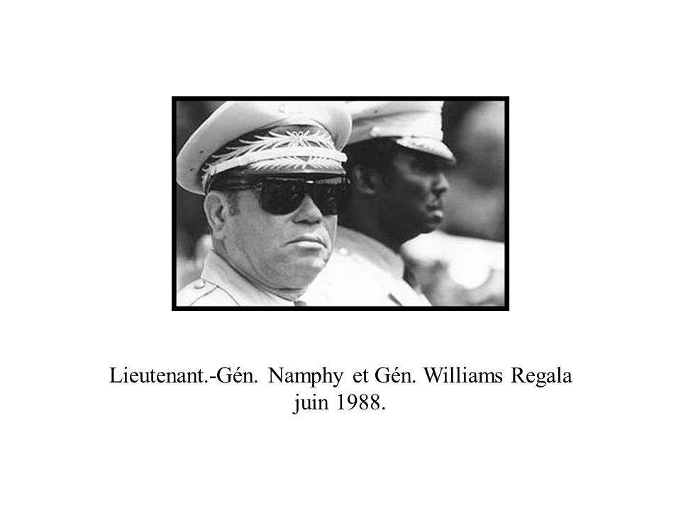 Lieutenant.-Gén. Namphy et Gén. Williams Regala juin 1988.