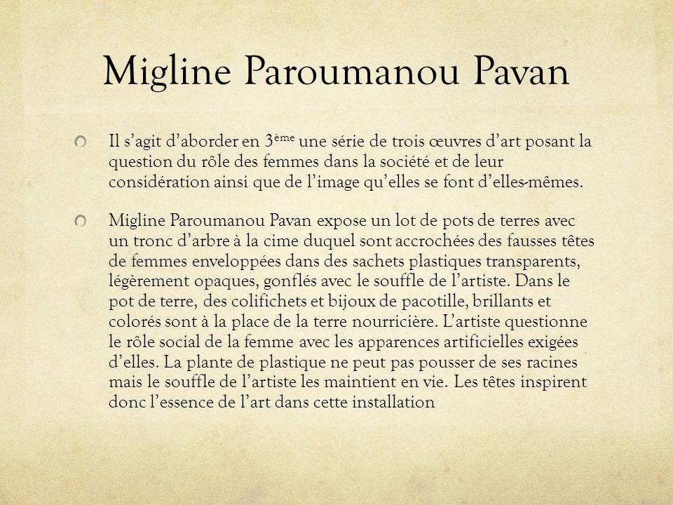 Migline Paroumanou Pavan Il sagit daborder en 3 ème une série de trois œuvres dart posant la question du rôle des femmes dans la société et de leur co