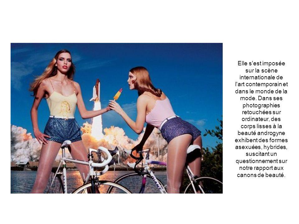 Elle s'est imposée sur la scène internationale de l'art contemporain et dans le monde de la mode. Dans ses photographies retouchées sur ordinateur, de