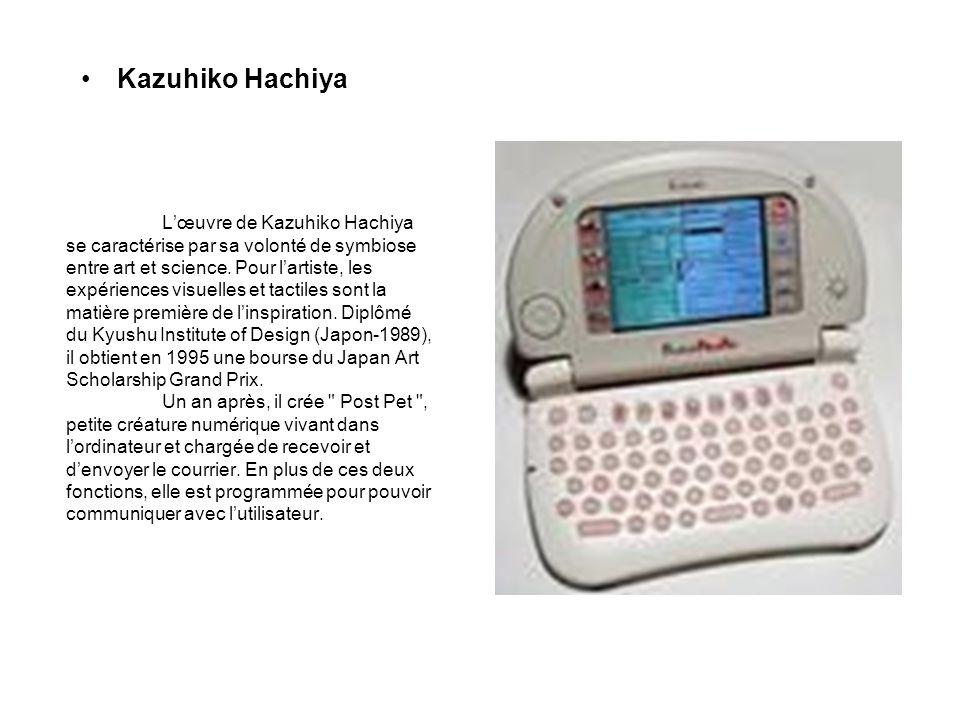 Lœuvre de Kazuhiko Hachiya se caractérise par sa volonté de symbiose entre art et science. Pour lartiste, les expériences visuelles et tactiles sont l