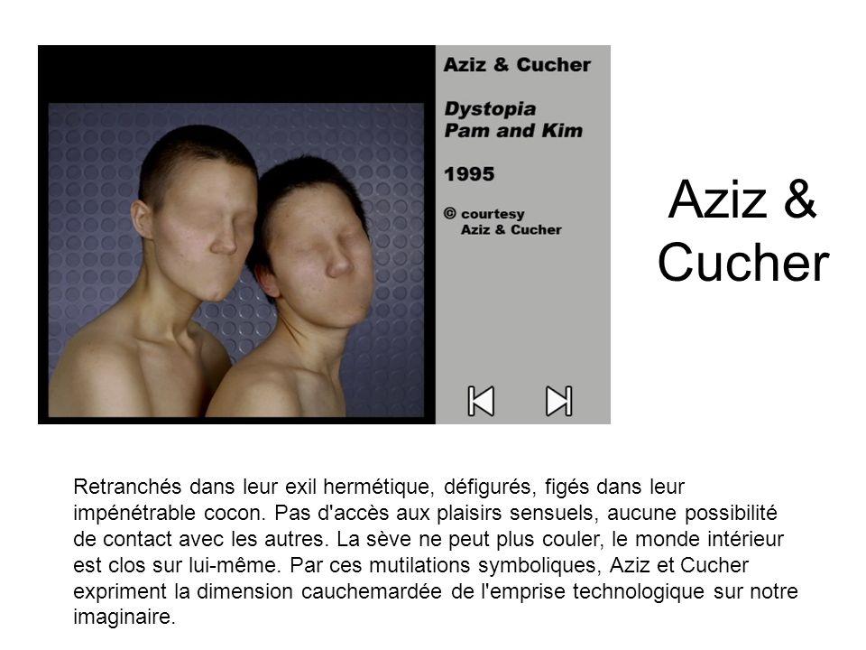 Aziz & Cucher Retranchés dans leur exil hermétique, défigurés, figés dans leur impénétrable cocon. Pas d'accès aux plaisirs sensuels, aucune possibili