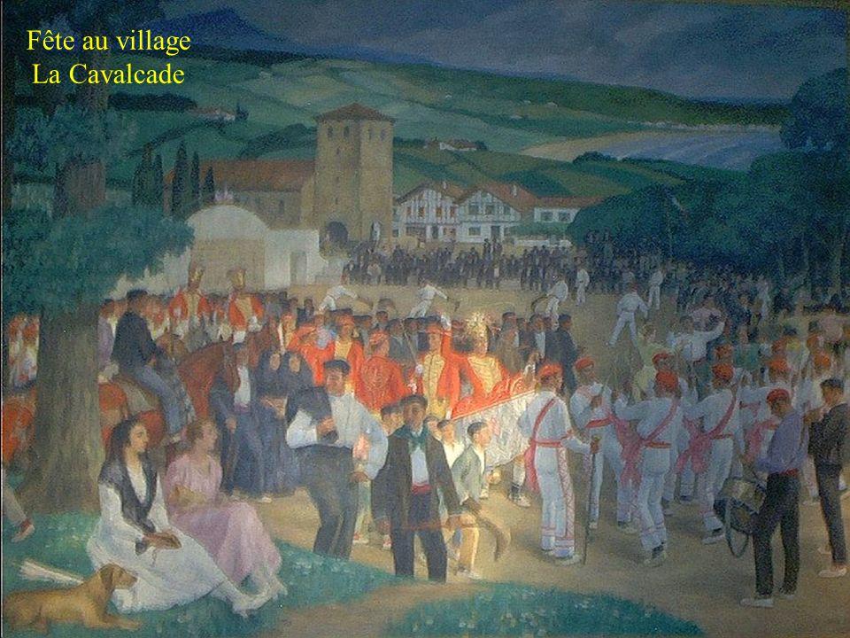 Stèle discoïdale représente la maison qui veille sur les morts Eglise Basque avec ses galeries