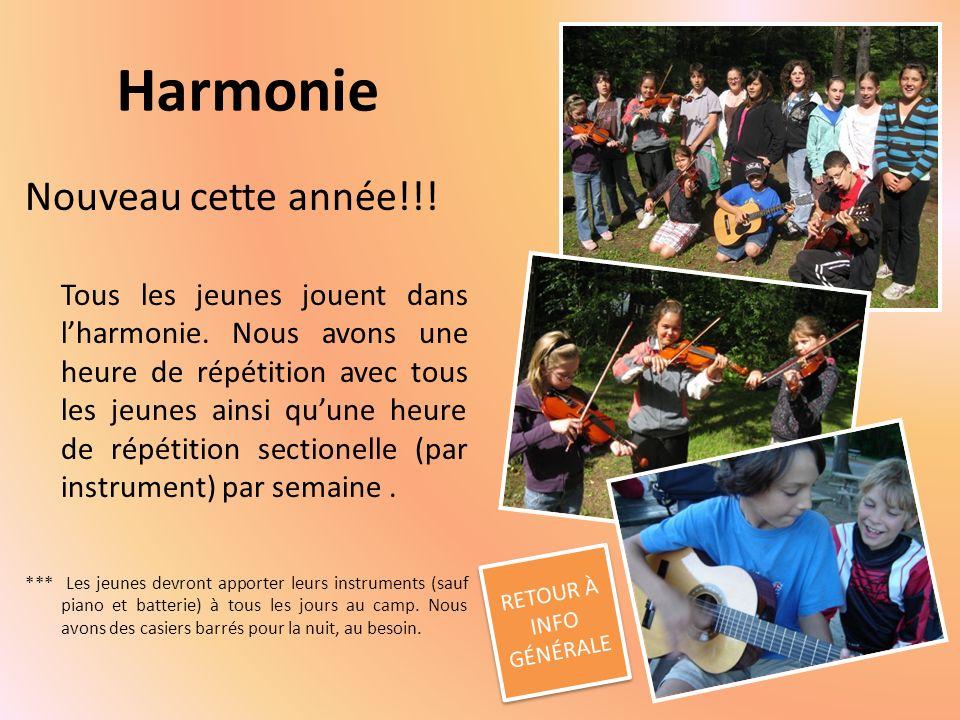 Harmonie Nouveau cette année!!.Tous les jeunes jouent dans lharmonie.