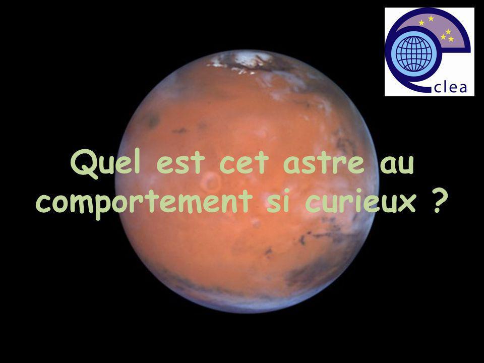 On place la Terre à la position quelle occupait le 15 octobre On repère sur le calque la position de Mars à cette date
