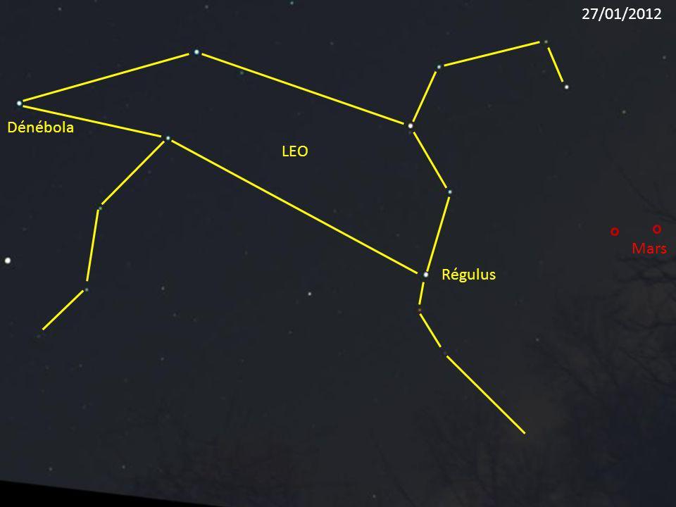 Régulus LEO Dénébola Mars 27/01/2012