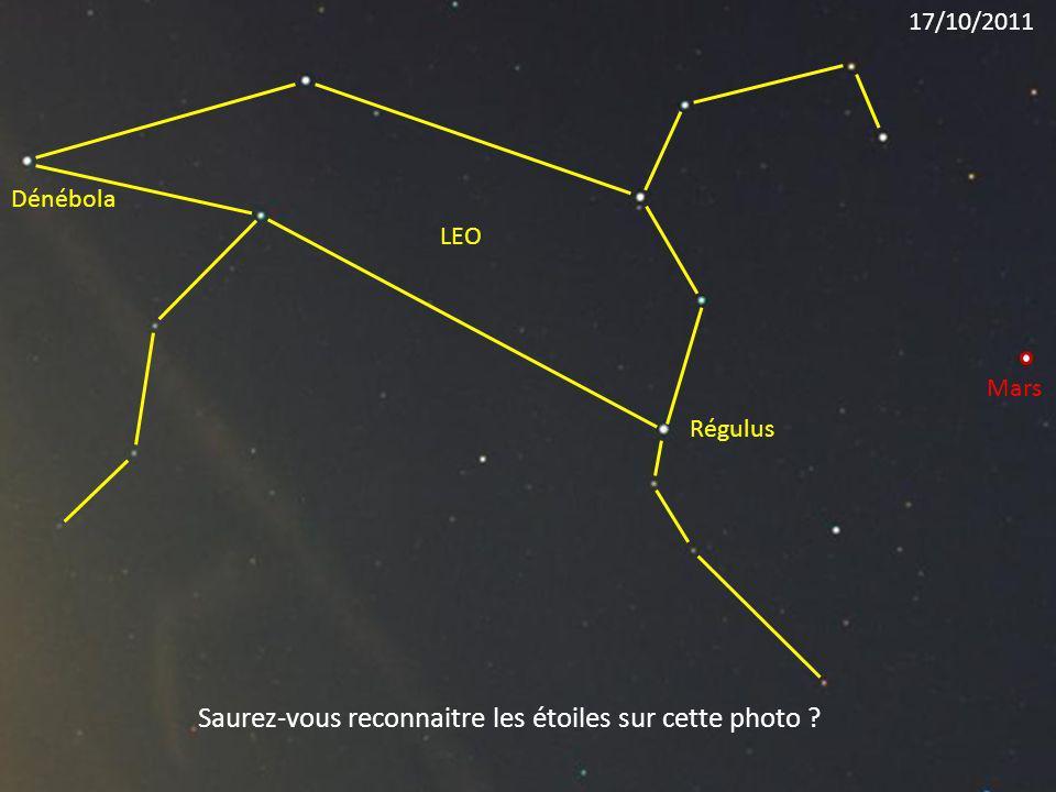 Régulus LEO Dénébola Mars Saurez-vous reconnaitre les étoiles sur cette photo ? 17/10/2011