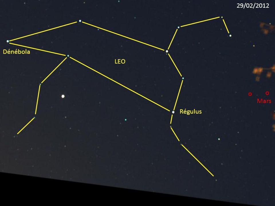 Régulus LEO Dénébola Mars 29/02/2012