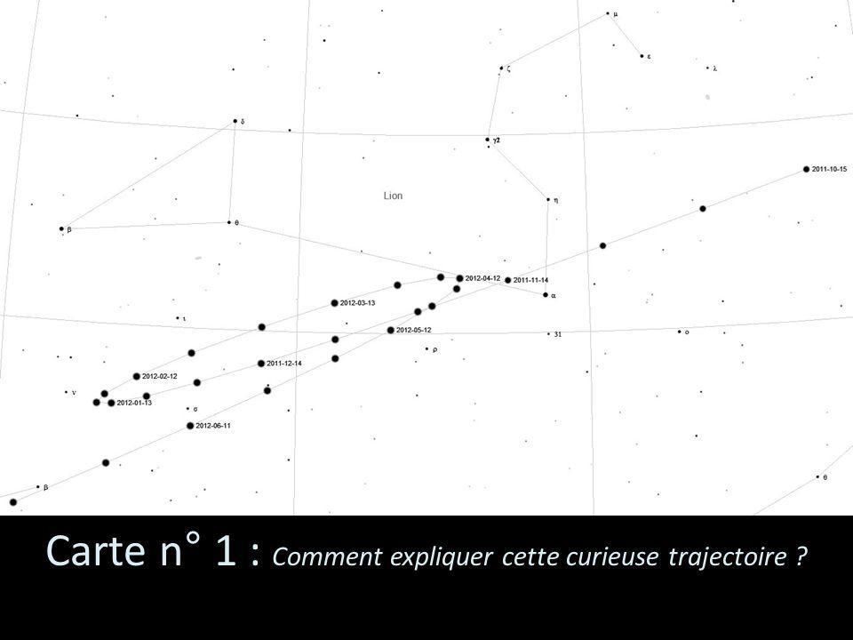 Carte n° 1 : Comment expliquer cette curieuse trajectoire ?