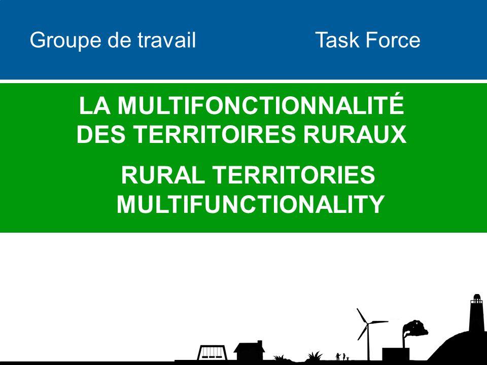 Groupe de travail Task Force LA MULTIFONCTIONNALITÉ DES TERRITOIRES RURAUX RURAL TERRITORIES MULTIFUNCTIONALITY