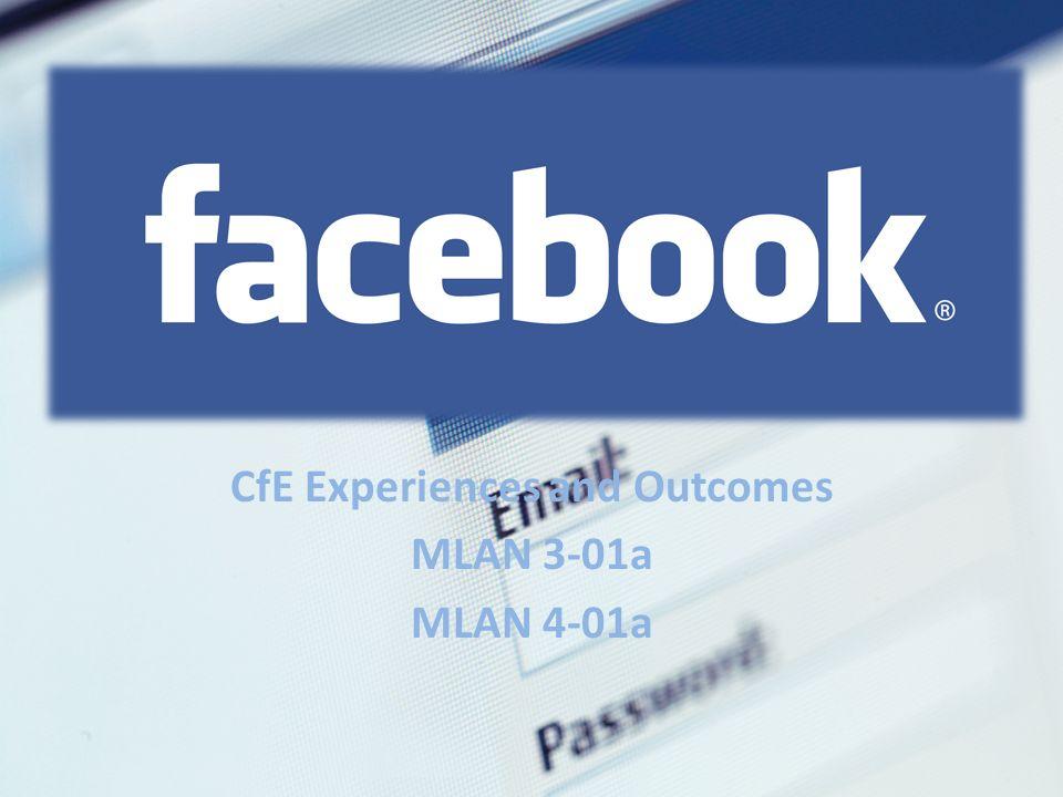 CfE Experiences and Outcomes MLAN 3-01a MLAN 4-01a
