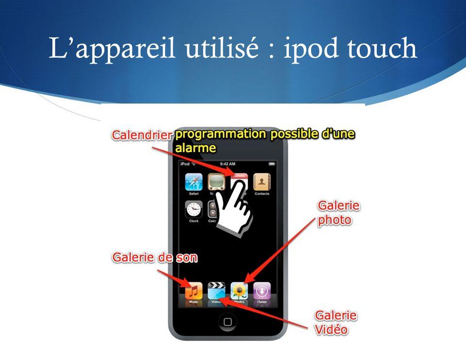 Lappareil utilisé : ipod touch