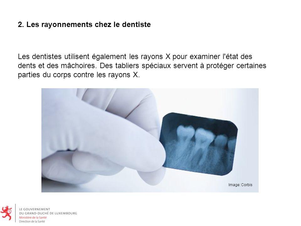 Les dentistes utilisent également les rayons X pour examiner l état des dents et des mâchoires.