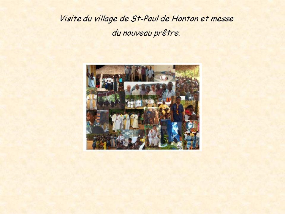 Visite du village de St-Paul de Honton et messe du nouveau prêtre.