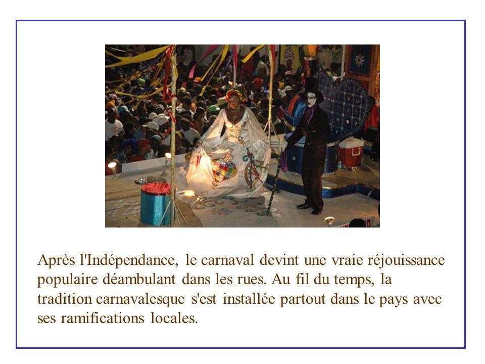 Le carnaval, expression culturelle des judéo- chrétiens, l une des coutumes de l antiquité romaine, a été introduit en Haïti durant l époque coloniale par les Espagnols.