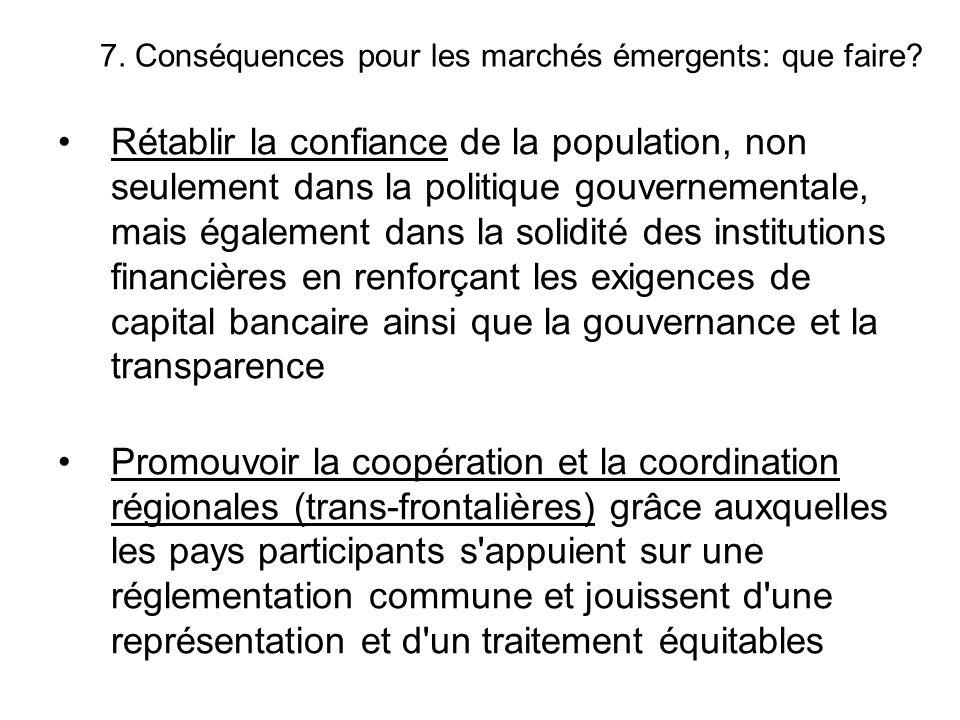 Rétablir la confiance de la population, non seulement dans la politique gouvernementale, mais également dans la solidité des institutions financières
