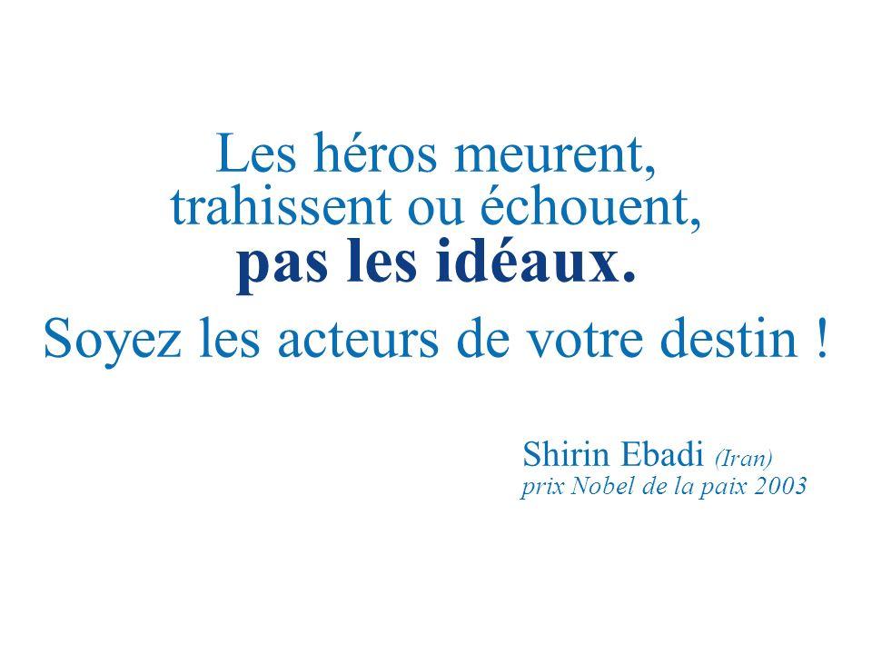 Les héros meurent, trahissent ou échouent, pas les idéaux.