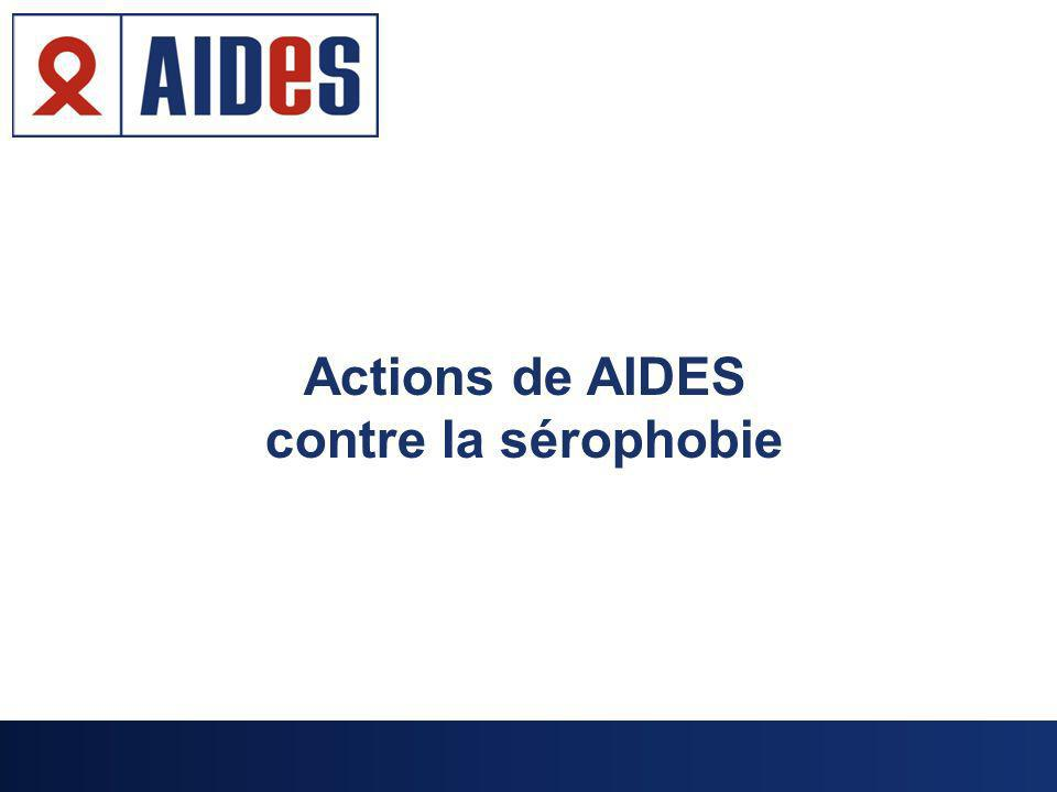 Actions de AIDES contre la sérophobie