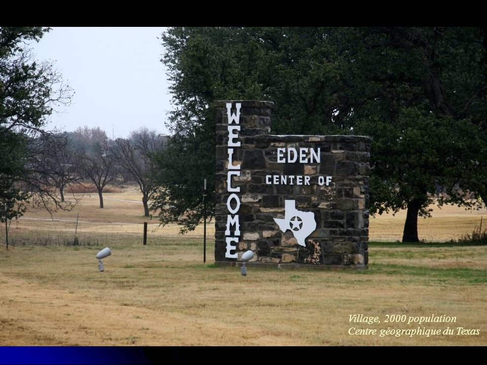 Village, 2000 population Centre géographique du Texas