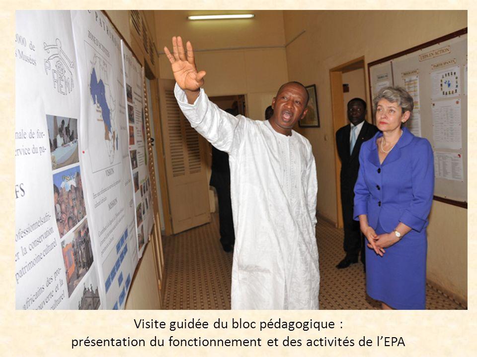 Visite guidée du bloc pédagogique : présentation du fonctionnement et des activités de lEPA