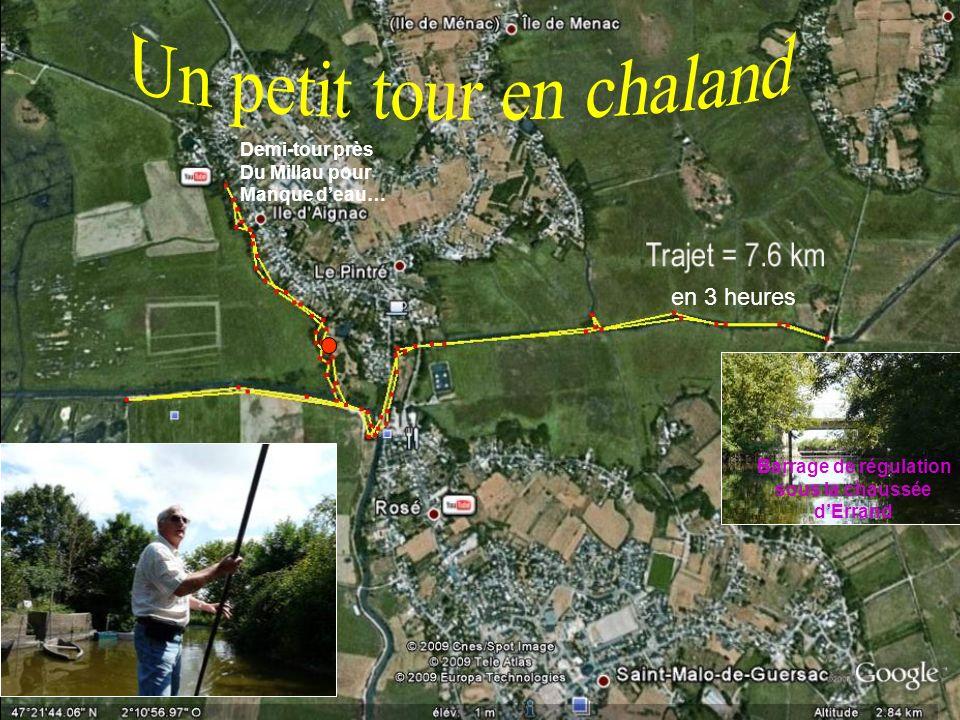 en 3 heures Demi-tour près Du Millau pour Manque deau… Barrage de régulation sous la chaussée dErrand