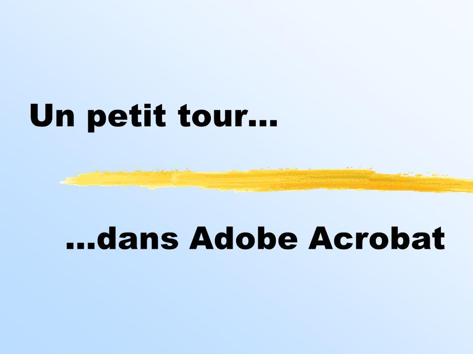 Un petit tour… …dans Adobe Acrobat