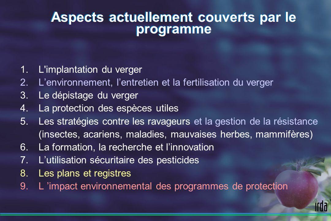 1.L implantation du verger 2. Lenvironnement, lentretien et la fertilisation du verger 3.
