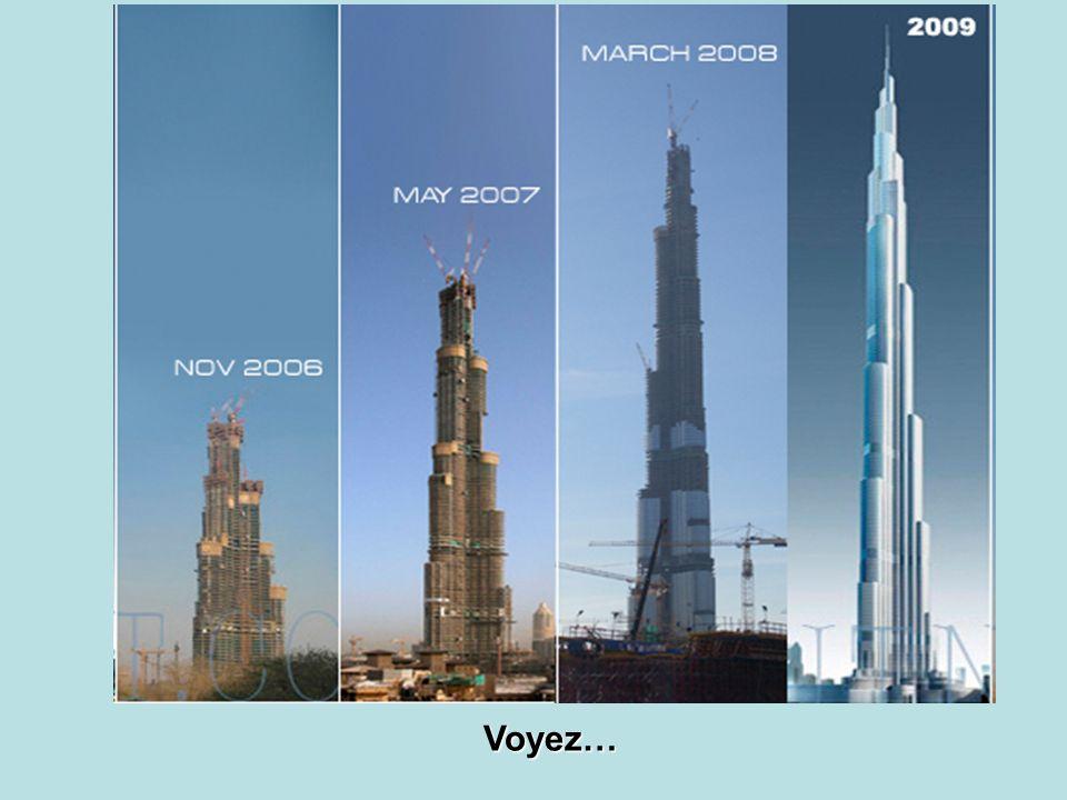 Avec ses 160 étages, il a battu tous les records..... Le record précédent était de 110 étages.