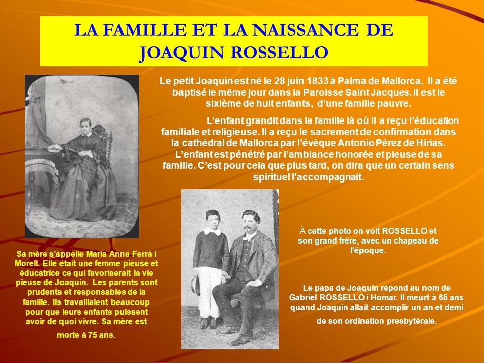 Le petit Joaquin est né le 28 juin 1833 à Palma de Mallorca.