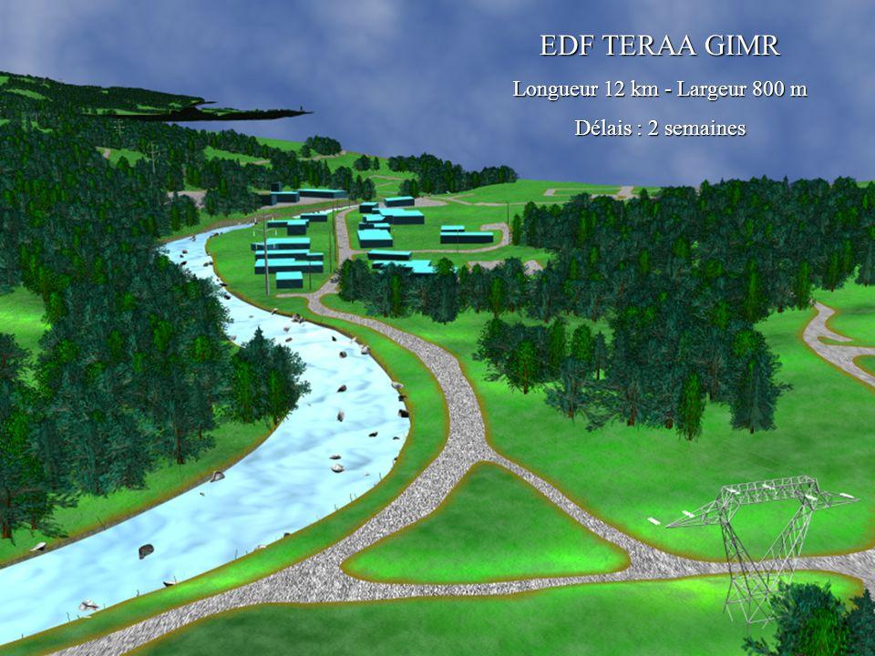 EDF TERAA GIMR EDF TERAA GIMR Longueur 12 km - Largeur 800 m Longueur 12 km - Largeur 800 m Délais : 2 semaines Délais : 2 semaines