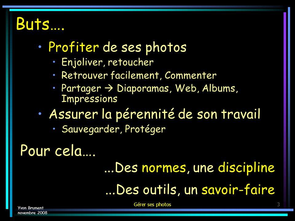 Gérer ses photos14 Exemple – NiKon View – Menu Informations Yvon Brument novembre 2008