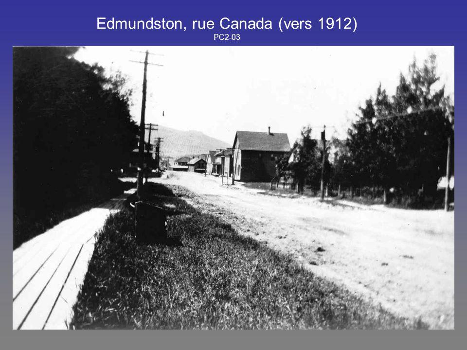 Edmundston, rue Canada (vers 1912) PC2-03