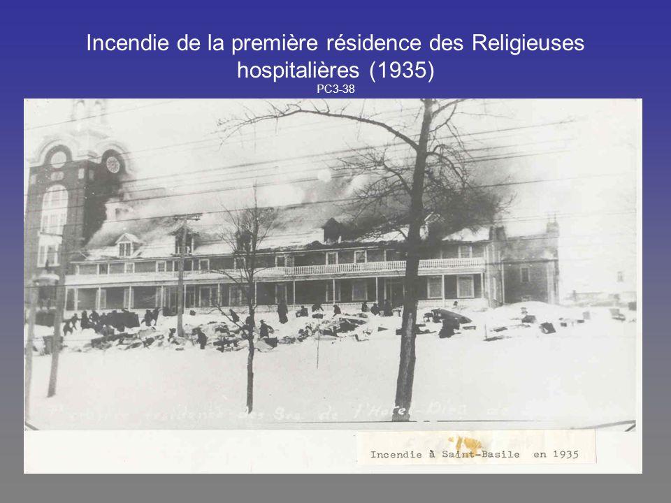 Incendie de la première résidence des Religieuses hospitalières (1935) PC3-38