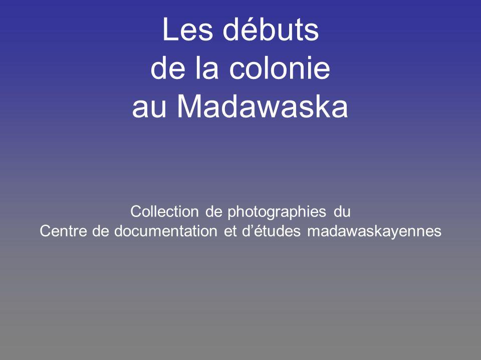 Première maison bâtie par les colons lorsqu ils sont venus sétablir au Madawaska, près du Petit Sault (vers 1815) PC1-16