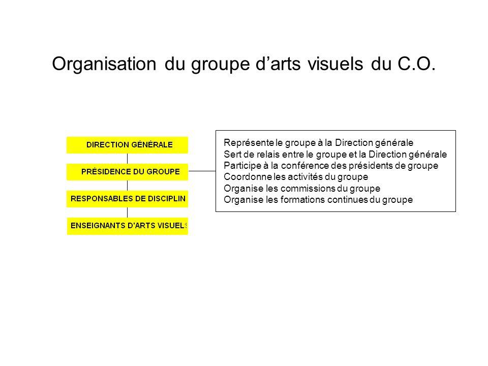 Organisation du groupe darts visuels du C.O.