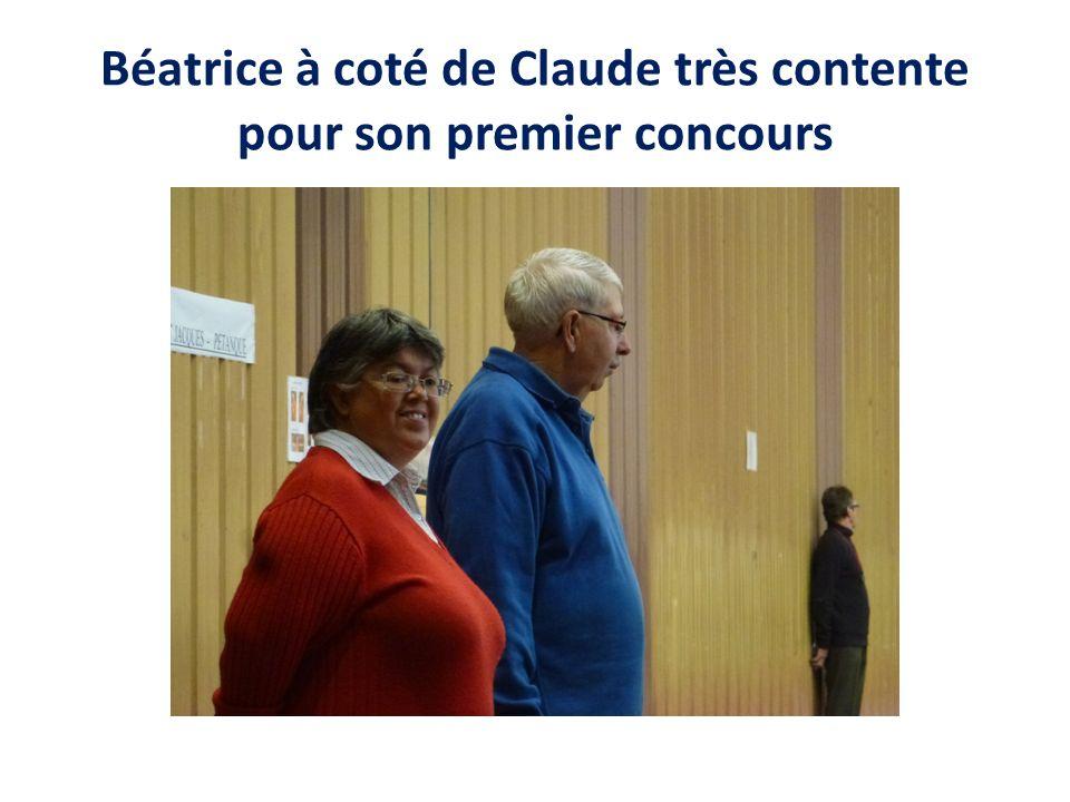 Béatrice à coté de Claude très contente pour son premier concours