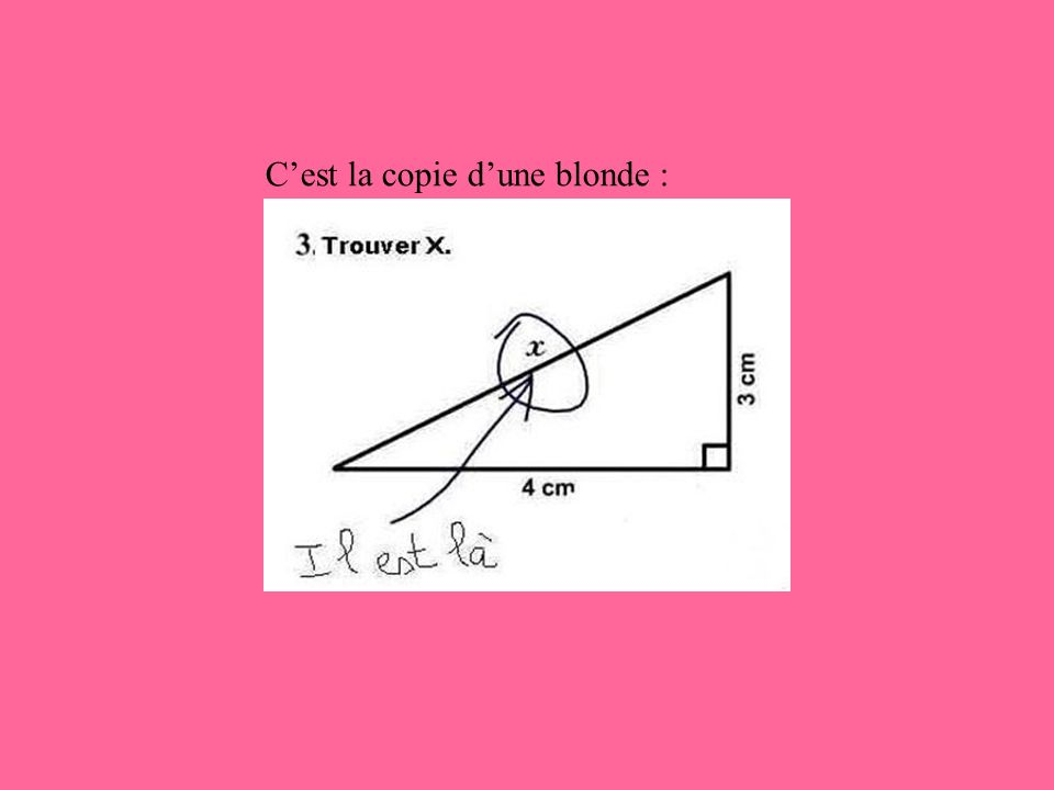 Cest la copie dune blonde :