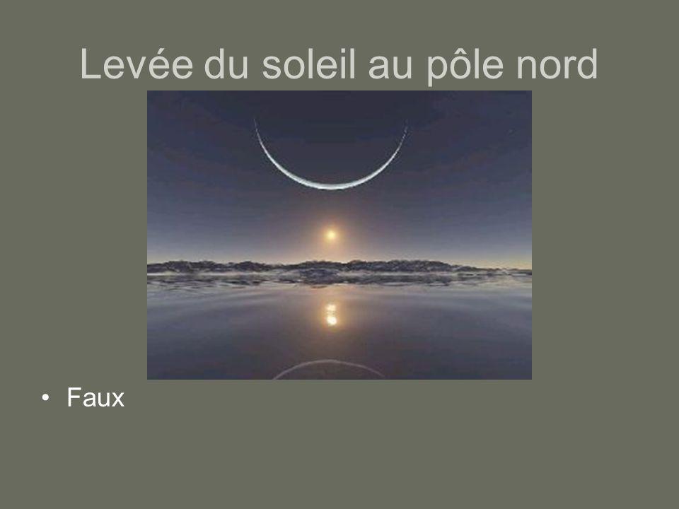 Levée du soleil au pôle nord Faux