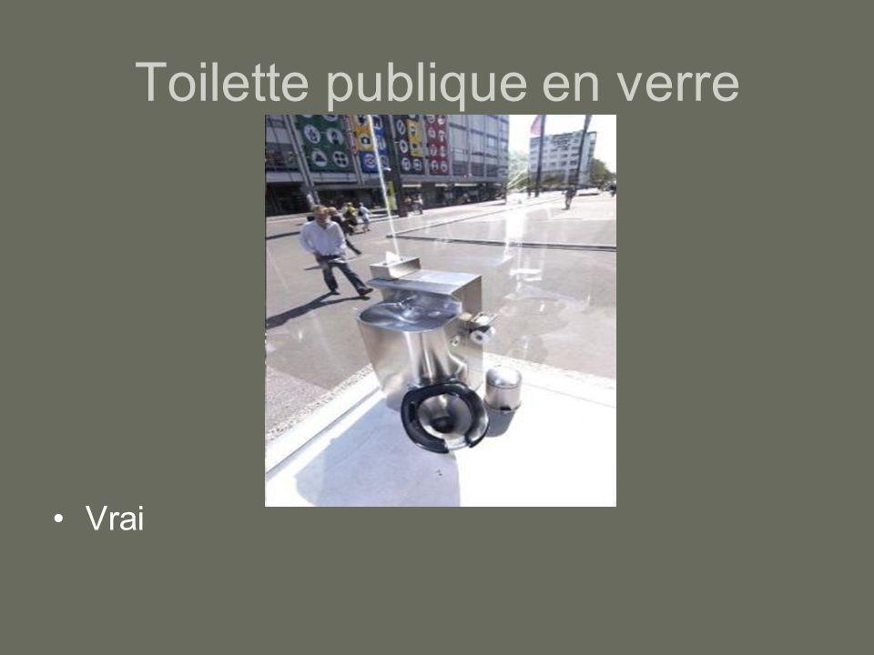 Toilette publique en verre Vrai