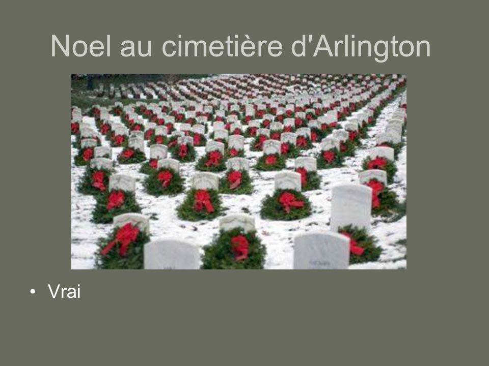 Noel au cimetière d'Arlington Vrai