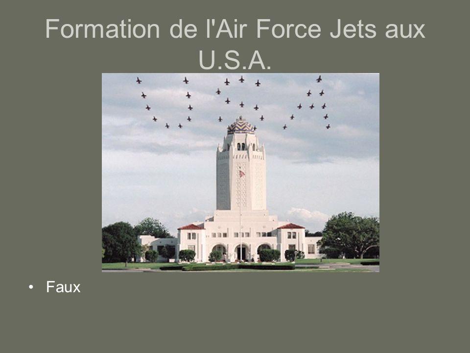 Formation de l'Air Force Jets aux U.S.A. Faux