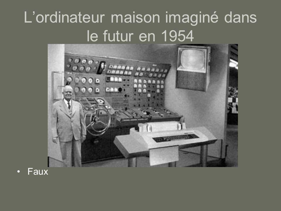 Lordinateur maison imaginé dans le futur en 1954 Faux