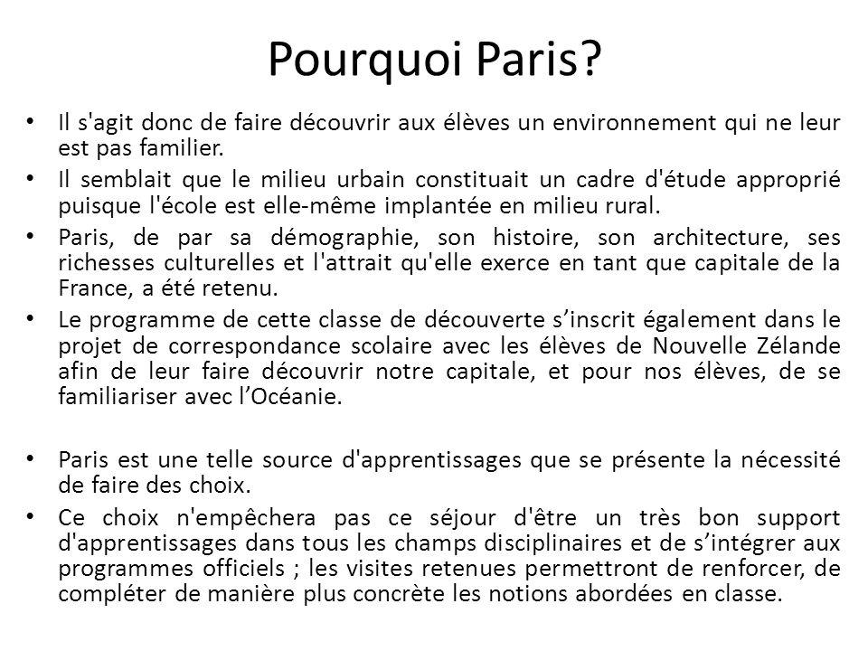 Pourquoi Paris.