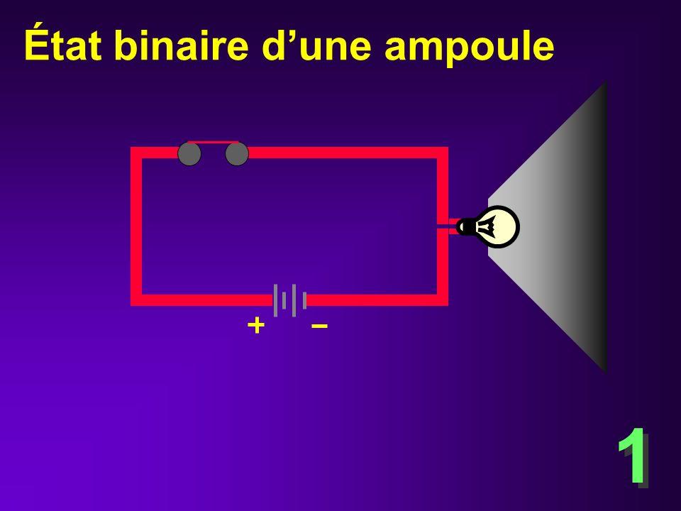 État binaire dune ampoule6.3 0 0