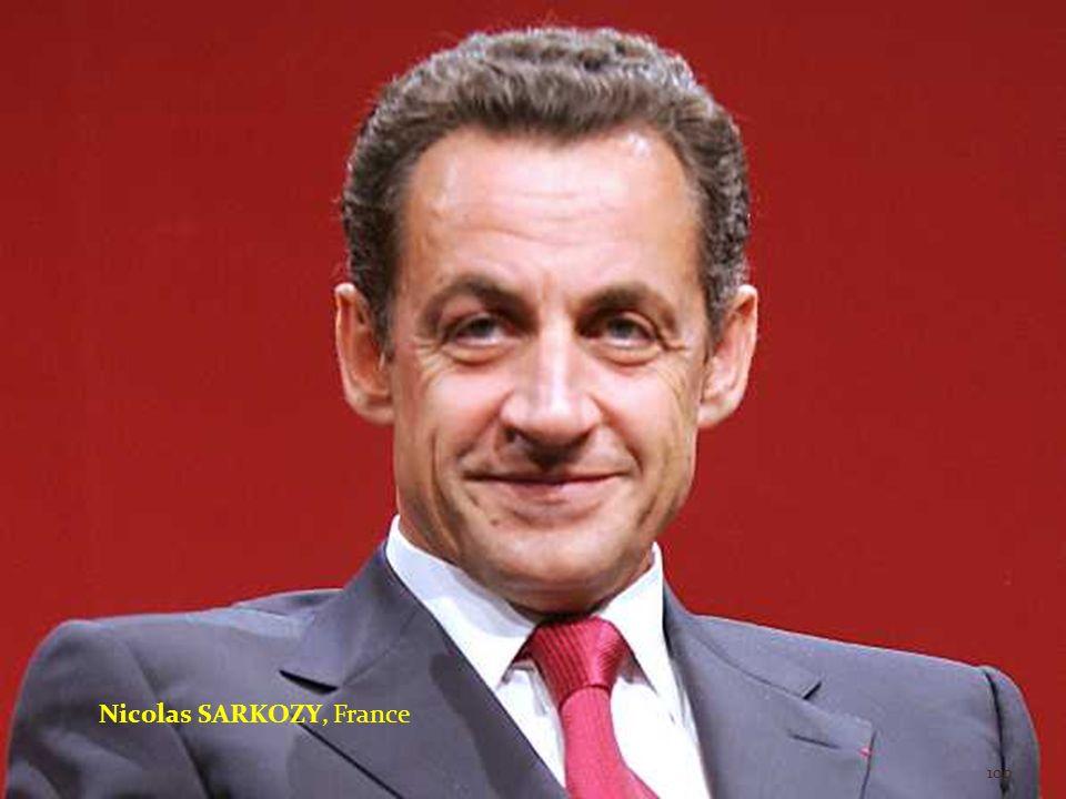 Nicolas SARKOZY, France 100