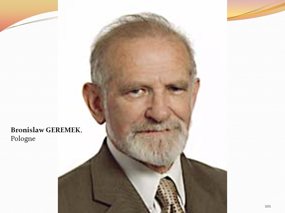 Bronislaw GEREMEK, Pologne 101