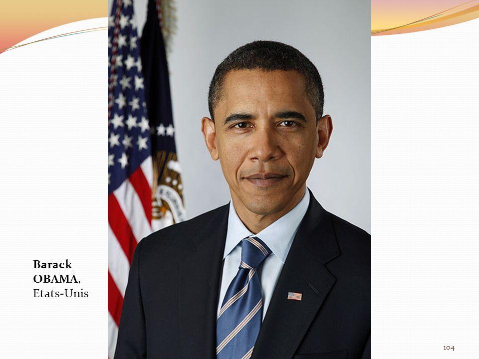 Barack OBAMA, Etats-Unis 104