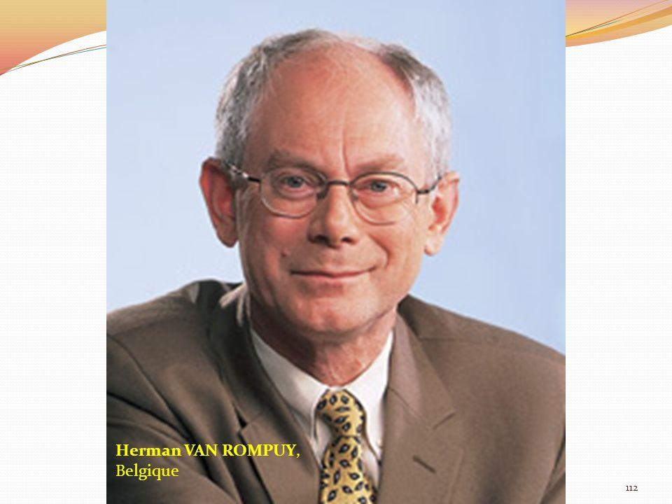 Herman VAN ROMPUY, Belgique 112