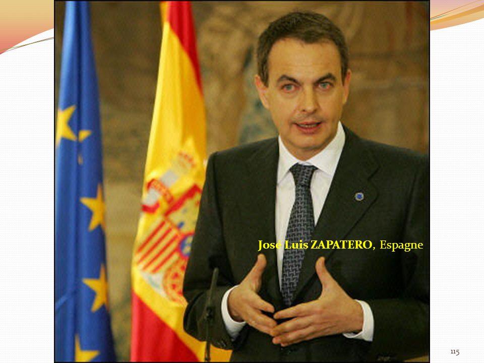José Luis ZAPATERO, Espagne 115