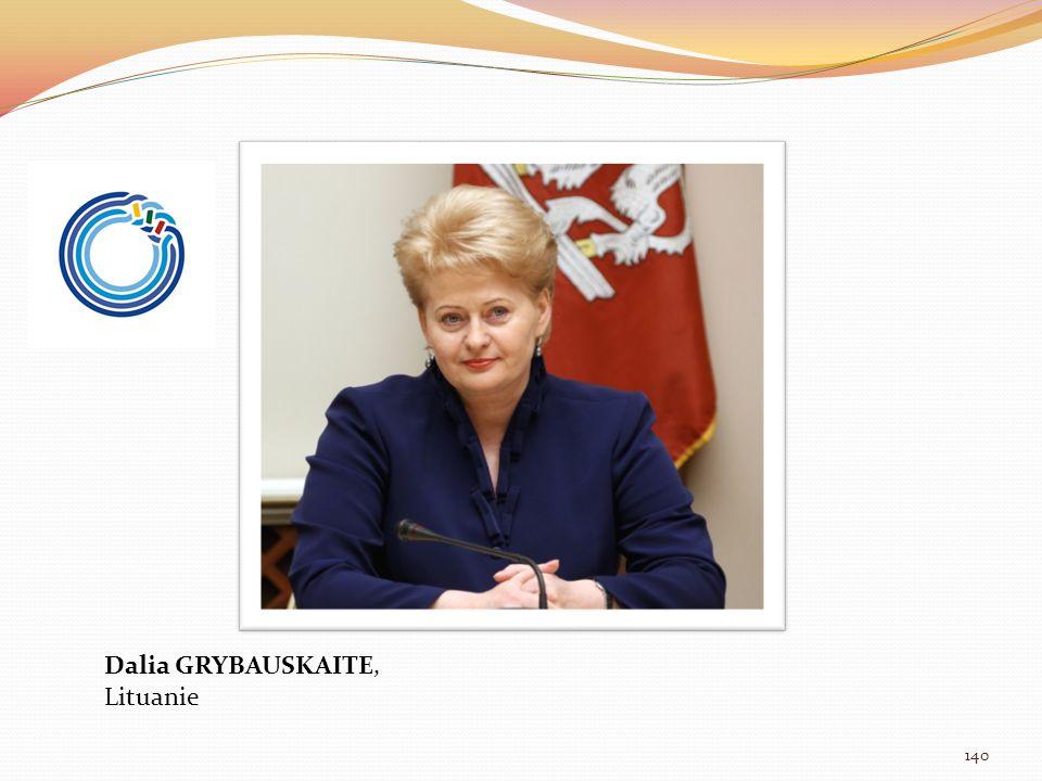 Dalia GRYBAUSKAITE, Lituanie 140