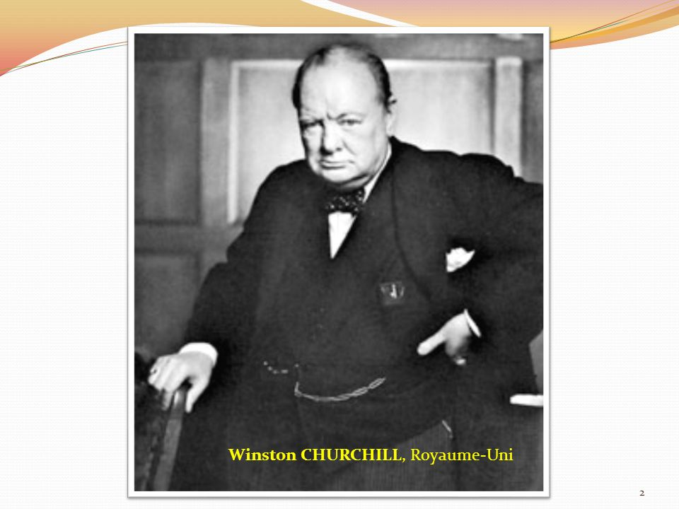Winston CHURCHILL, Royaume-Uni 2